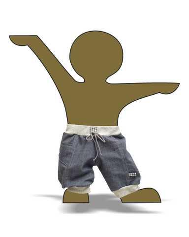 Джинсовые брюки - Демонстрационный образец. Одежда для кукол, пупсов и мягких игрушек.