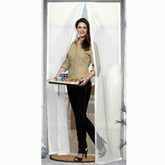 Москитная сетка на магнитах для двери Magic Mesh (белая)