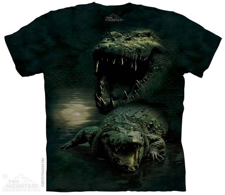 Футболка Mountain с изображением темного аллигатора - Dark Gator