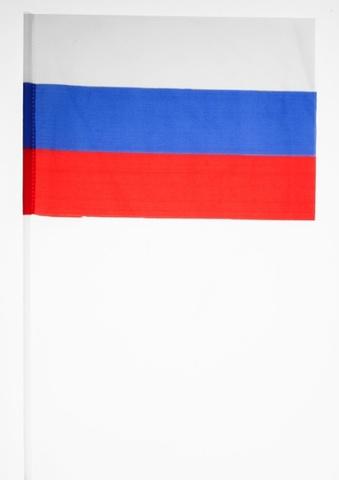 Российский флажок на палочке 15х23 см