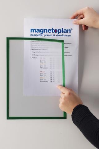 Магнитная рамка, А4, зеленая, 5шт/уп