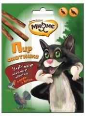 Мнямс пир охотника лакомые палочки для кошек (дичь, гусь) 3 шт