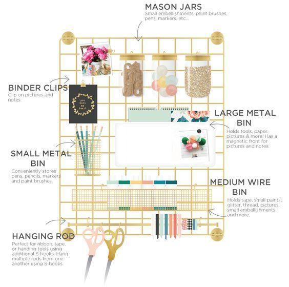 Пластиковая емкость для хранения Wire System Plastic Mason Jar -White W/Gold Lid