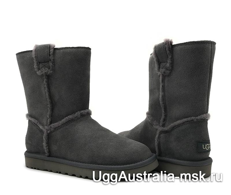 UGG Classic Short Top Wool Grey