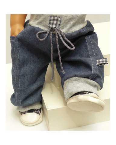 Джинсовые брюки - Детали. Одежда для кукол, пупсов и мягких игрушек.