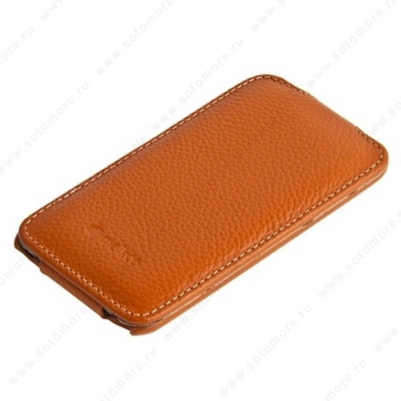Чехол-флип Melkco для Apple iPod Touch 4th Leather Case Jacka Type (Orange LC)