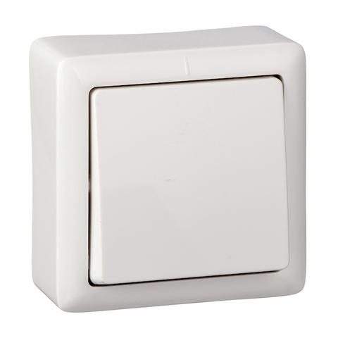 Выключатель одноклавишный с пластиковой пластиной 6 А 250 В. Цвет Белый. Schneider Electric(Шнайдер электрик). Hit(Хит). VA16-131I-B