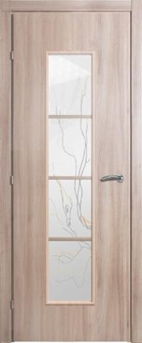 Дверь Краснодеревщик ДО 5066 с/о Лиана, цвет меди акация, остекленная
