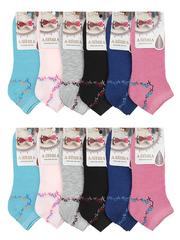 7015-1 носки женские 36-41 (12шт), цветные
