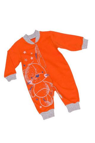 Алена 6-2288 Комбинезон детский оранжевый с открытой ножкой
