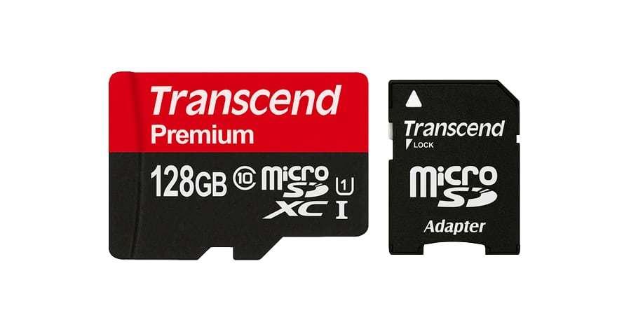 Карта памяти microSD 128GB Transcend microSDXC Class 10 UHS-I U1 + SD адаптер