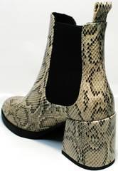Ботинки ботильоны под змеиную кожу демисезонные Kluchini 13065 k465 Snake.