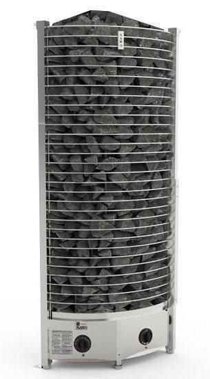 Серия Tower: Электрическая печь SAWO TOWER TH3-60NB-CNR-P (6 кВт, встроенный пульт, угловая)