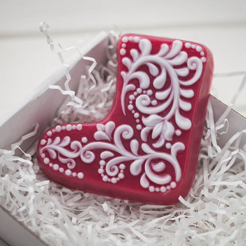 Пластиковая форма для мыла Валенок