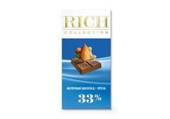 Молочный шоколад Rich с орехами, 70г
