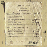 Glenn Gould / Glenn Gould Plays Music By William Byrd And Orlando Gibbons (LP)