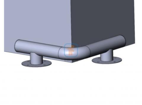 КМ-500/76х3 угловой на ножках