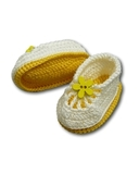Вязаные туфли летние - Желтый. Одежда для кукол, пупсов и мягких игрушек.