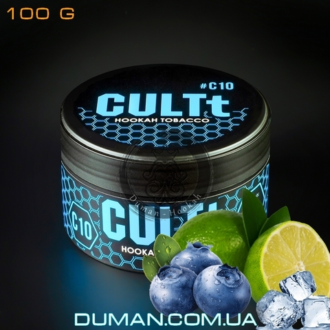 Табак CULTt C10 Blueberry Lime Ice (Культ Лайм Черника Лёд)