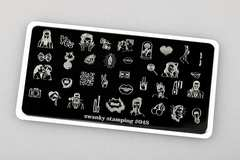 Пластина Swanky Stamping 048