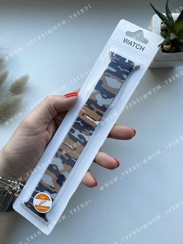 Ремешок Apple watch 42/44mm Milanese Loop military /brown/ хаки коричневый