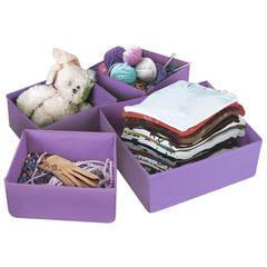 Набор кофров для хранения вещей (4 шт), фиолетовый