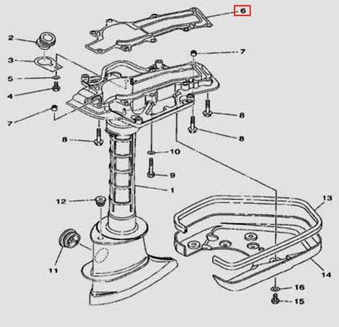 Прокладка дейдвуда для лодочного мотора F5 Sea-PRO(17-6)