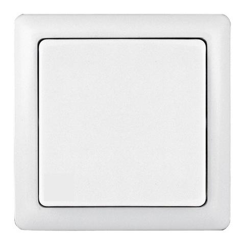 Выключатель одноклавишный 6 А 250 В. Цвет Белый. Schneider Electric(Шнайдер электрик). Hit(Хит). VA16-131-B