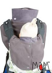 Флисовая слинго-манишка для мамы и малыша МаМ Babywearing Dickey Fleece, Серый