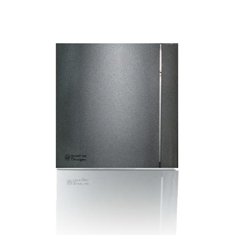 Вентилятор накладной S&P Silent 200 CHZ Design 3C Grey (таймер, датчик влажности)