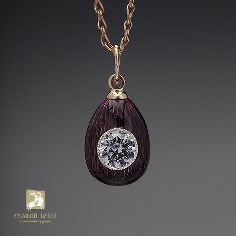 Кулон женский серебро