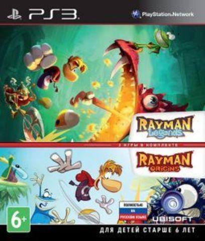 Sony PS3 Rayman Legends + Rayman Origins Комплект (русская версия)