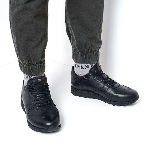 Мужские кожаные кроссовки на подошве ЭВА