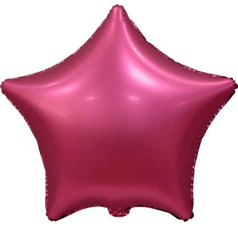 Шар звезда Сатин Бордовый, 45 см