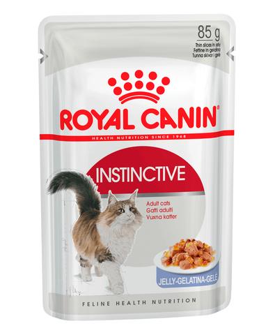 Royal Canin Instinctive пауч для кошек кусочки в желе мясо 85 г