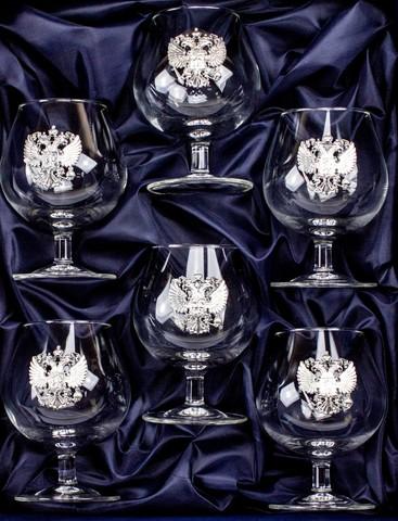 Подарочный набор бокалов для коньяка Державный