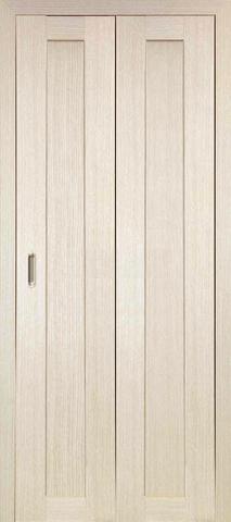 > Экошпон складная Optima Porte Турин 501.1  (2 полотна), цвет беленый дуб, глухая