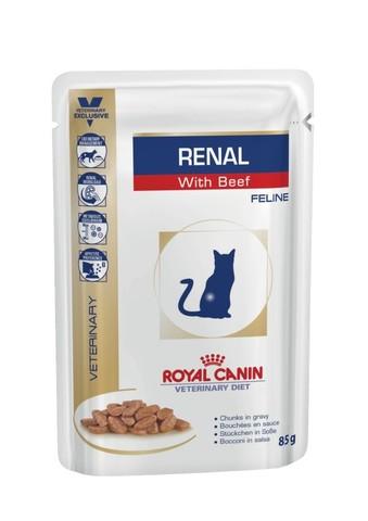 Royal Canin Renal , с говядиной 85 г (кусочки в соусе)