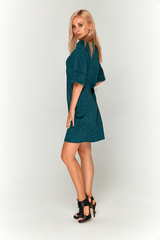 Замшевое зеленое платье Lolly