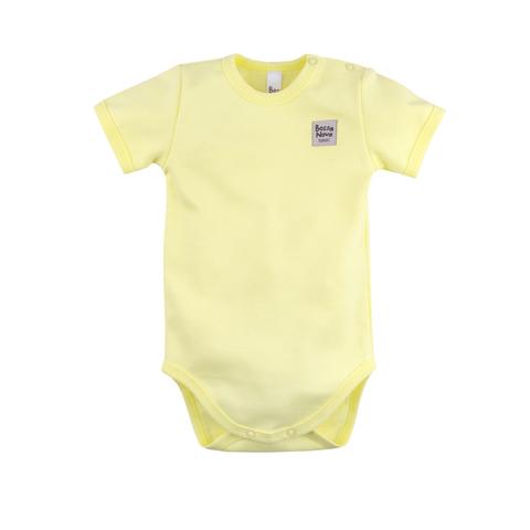 Боди с коротким рукавом Basic, желтый