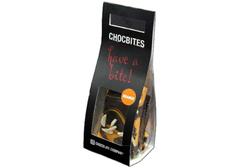 Узорный  темный шоколад лепестками со вкусом апельсина, 100г