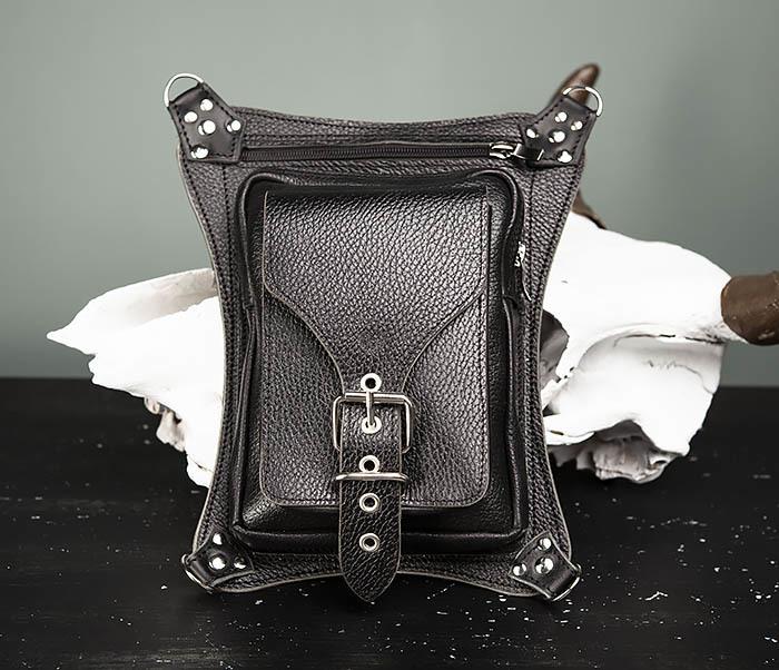 BAG369-1 Мужская набедренная сумка ручной работы из натуральной кожи фото 02