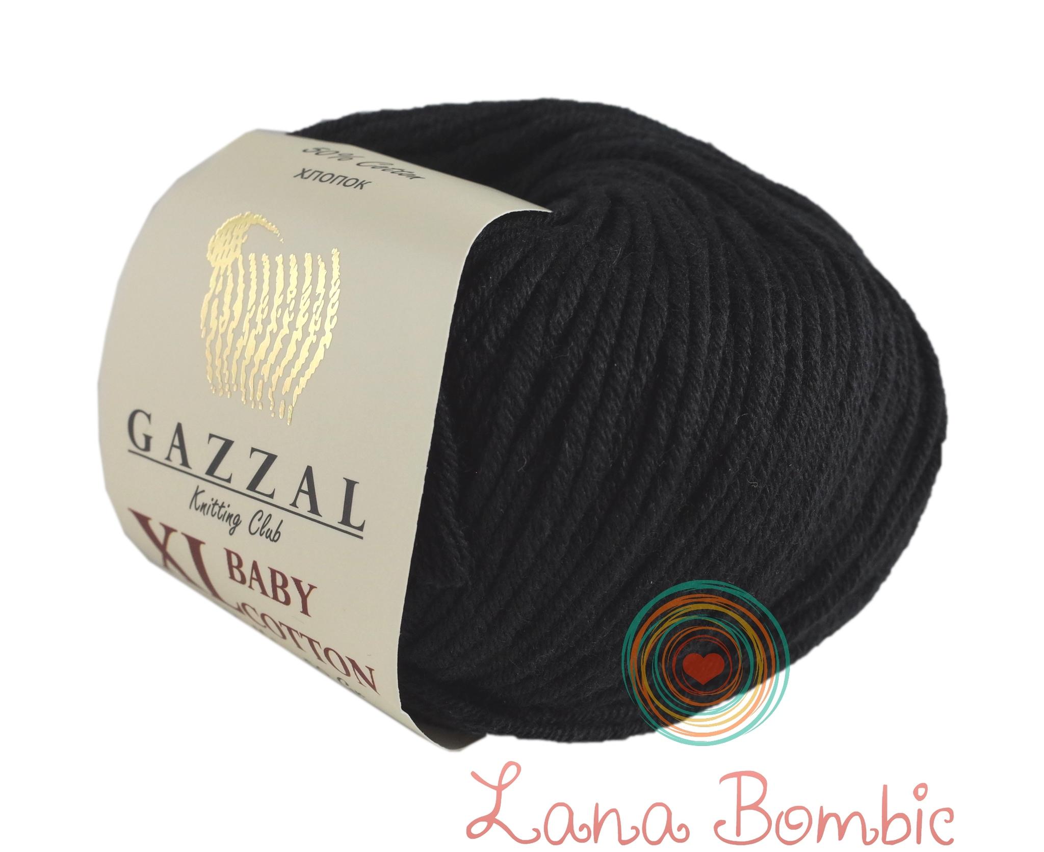 Пряжа Gazzal Baby Cotton XL черный 3433