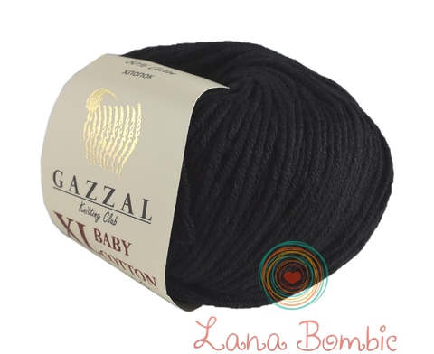 Пряжа Gazzal Baby Cotton XL черный 3433