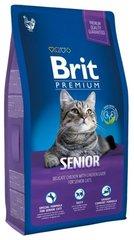 Корм для пожилых кошек, Brit Premium Cat Senior, курица с соусом из куриной печени