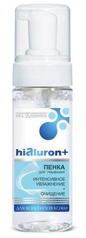 BelKosmex Hialuron+ Пенка для умывания интенсивное увлажнение + очищение для всех типов кожи 150мл