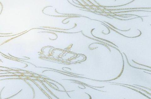 Пододеяльник 135х200 Christian Fischbacher Luxury Nights Crown 709 золотая вышивка