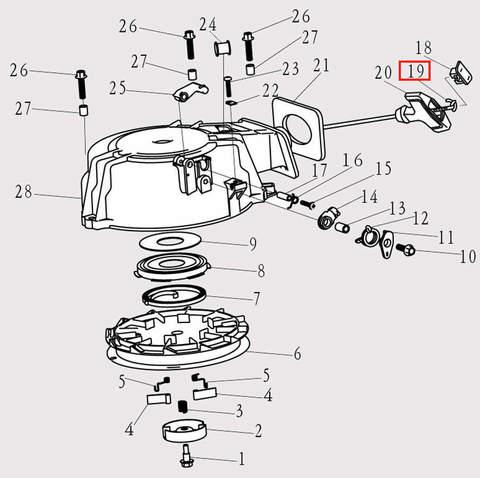 Шнур стартера φ4x1.8 для лодочного мотора F9.8 Sea-PRO (8-19)