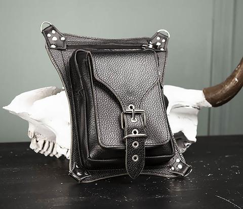 Мужская набедренная сумка ручной работы из натуральной кожи