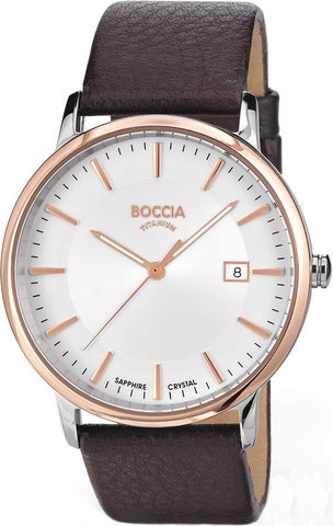 Купить Мужские наручные часы Boccia Titanium 3557-04 по доступной цене